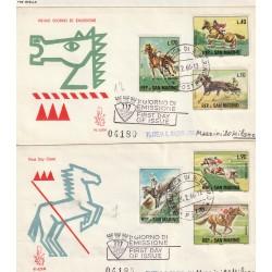 1966 FDC VENETIA SAN MARINO 91-1-2/SM SERIE SPORT EQUESTRI MF81811