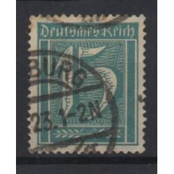1922 GERMANIA REICH CIFRA 15 p. AZZURRO VERDE 1 V USATO N. 162 CERT CILIO MF28569