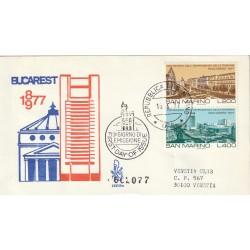 1977 FDC VENETIA 169/SM SAN MARINO CENT. INDIP. ROMANIA MF81828