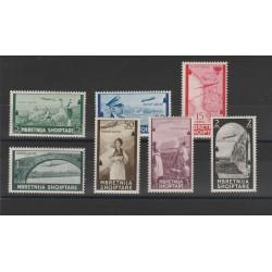 1940 ALBANIA POSTA AEREA SOGGETTI VARI  7  VAL MNH MF55675