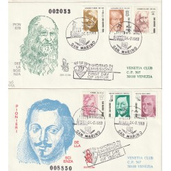 1983 FDC VENETIA 225 1-2/SM SAN MARINO PIONERI DELLA SCIENZA MF81890