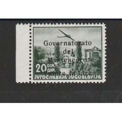 1942 MONTENEGRO OCCUPAZIONE ITALIANA SOPRAT. NERA  1 VAL MNH SORANI MF55767