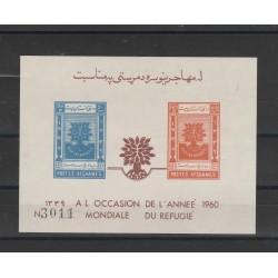 1960 AFGANISTAN RIFUGIATO  NON DENTELLATI  1 BF   MNH MF558144