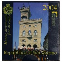 2004 SAN MARINO DIVISIONALE EURO 9 MONETE FDC IN CONFEZIONE MF28613