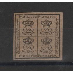 1857 GERMANIA ANTICHI STATI BRUNSWICK  STEMMA BRUNO  N 16  USATO  MF55797