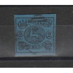 1853 GERMANIA ANTICHI STATI BRUNSWICK STEMMA N 8 USATO MF55796