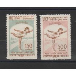 1958 VIETNAM  DEL NORD PRO CULTURA PSICHICA 2 VAL  MNH  MF58877