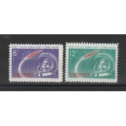 1961 VIETNAM DEL NORD  GAGARIN   2 VAL MNH   MF55876
