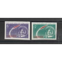 1961 VIETNAM DEL NORD  GAGARIN   2 VAL  ND  MNH   MF55874