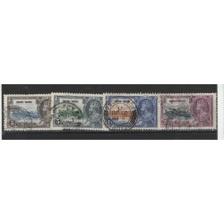 HONG KONG 1935 SILVER JUBILEE GEORGE V  4 VAL USATI YV 132/135 MF55782