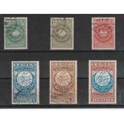 1930 YEMEN ALLEGORIA  6 VAL  MISTI USATI / MNH YV  2/6 MF55862