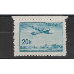 COREA  1958 AEREO SU PYONGYANG  1 V  PA N 1 MLH MF55845