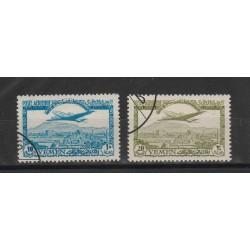 1949 YEMEN AEREO CHE SORVOLA  2  VAL USATI  PA YV 1/2 MF55836