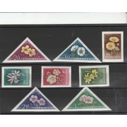 1958 UNGHERIA  FLORA FIORI  8 VAL   MF55927