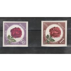 1959 UNGHERIA  FLORA FIORI ROSE  2 VAL  MF55929