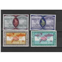 1965 THAILANDIA THILAND SETTIMANA LRTTERA SCRITTA 4 V MNH MF55902