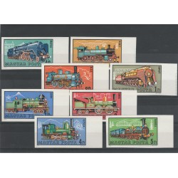 1972 UNGHERIA  LOCOMOTIVE A VAPORE 8 VAL ND MNH MF55914