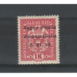 1918 TERRE REDENTE VENEZIA GIULIA  AUSTRIA SOPRAST N 14 - 1K  1 V  MNH  CAFFAZ MF55985