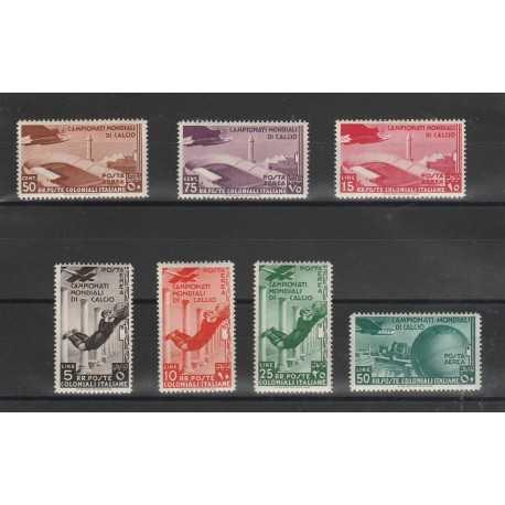 1934 COLONIE EMISSIONI GENERALI SERIE MONDIALI CALCIO 7 VAL NUOVI MLH MF55963