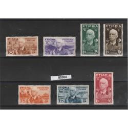 1936 ETIOPIA  EFFIGIE VITTORIO EMANUELE III 7 VALORI NUOVI  MNH MF55965