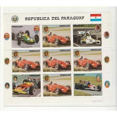 PARAGUAY 1989  AUTO FERRARI SPORT 1  BF MNH  MF56023