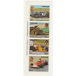 PARAGUAY 1989  AUTO FERRARI SPORT  4 VAL IN STRISCIA  MNH  MF56024