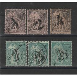 S PIERRE ET MIQUELON 1892 ALLEGORIE 6 VAL  MISTI  USATI / MLH MF56038
