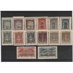 1924 FIUME ANNESSIONE ALL ITALIA SASS N  214-225 - E11-E12 14 V MNH MF56040