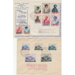1949 FDC SAN MARINO GARIBALDI 2 BUSTE NON  VIAGGIATA  MF55992