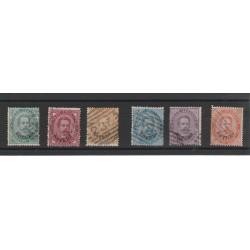 1881- 83 LEVANTE EFFIGIE UMBERTO I  6 VAL  USATI  MF56046