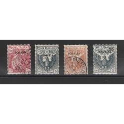 1916 SOMALIA SERIE CROCE ROSSA 4 VALORI USATI  MF56069