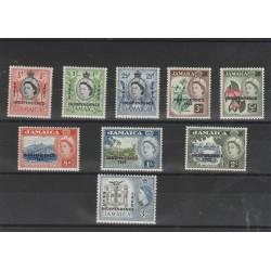 JAMAICA 1962 INDIPENDENZA SOPRASTAMPATA 9 VAL MNH  MF56090