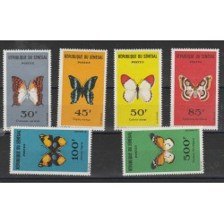 1963  SENEGAL  FAUNA FARFALLE  6  VALORI MNH MF56181