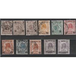 1923 SOMALIA SERIE ELEFANTE E LEONE SOPRASTAMPATI  11 VAL USATI  MF56183