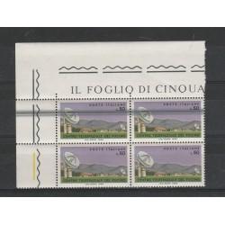 1968 ITALIA L 50 FUCINO VARIETA TAGLIO CHIRURGICO QUARTINA MF56355