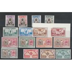 1953 SOMALIA AFIS ANNATA COMPLETA 16 VAL NUOVI MNH MF56400