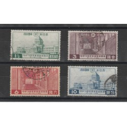 1936 GIAPPONE JAPAN  PALAZZO IMPERIALE 4 VAL USATI  MF56429