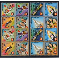 BURUNDI 1975 COOPERAZIONE SPAZIALE USA-URSS APOLLO SOYUZ 16 V MNH MF28924