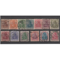 1920 GERMANIA REICH ALLEGORIA DELLA GERMANIA 13 V USATI  MF56557