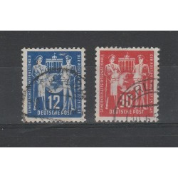 1949 GERMANIA  DDR  SINDACATI  2 V USATI MF56564