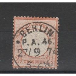 1872 GERMANIA REICH AQUILA GRANDE  1 V USATO  UNIF. 18  MF56562