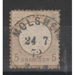 1872 GERMANIA REICH AQUILA GRANDE  1 V USATO  UNIF. 19  MF56559
