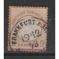 1872 GERMANIA REICH AQUILA GRANDE  1 V USATO  UNIF. 24  MF56558