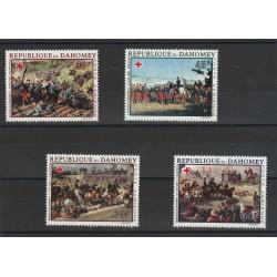 DAHOMEY 1968  CROCE ROSSA -  QUADRI BATTAGLIE  4 V MNH MF56571