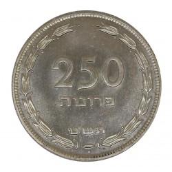 1949 ISRAEL 250 PRUTA ARGENTO - SILVER - H - ORIGINALE MF28961