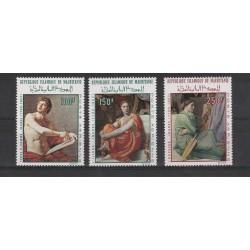 MAURITANIE MAURITANIA 1972 QUADRI DI INGRES 3 VAL MNH MF56630
