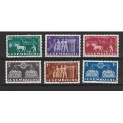 1951 LUSSEMBURGO SERIE CONSIGLIO D EUROPA UNIF N  443-448 6 V MNH MF56658