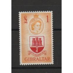 1953  GIBILTERRA ELISABETTA II ALTO VALORE   1 £ - 1 V   MF56659