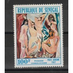 SENEGAL 1967- QUADRI  OMAGGIO A PICASSO  - 1 VAL MNH MF56603