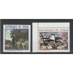1968 TCHAD - CIAD - QUADRI DI ROSSEAU 2 VAL MNH MF56645